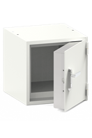 Isotope storage safe with hinged door
