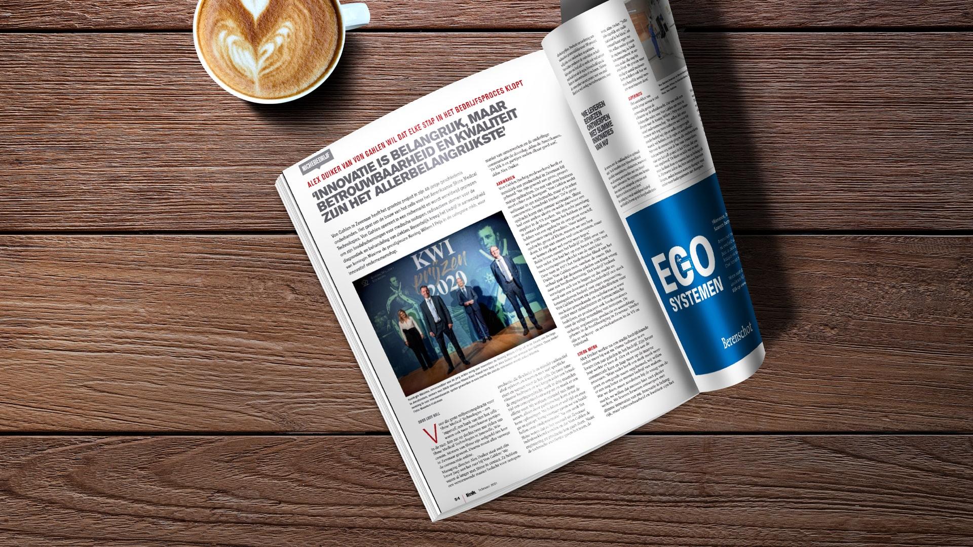 Von Gahlen in managementblad Link Magazine