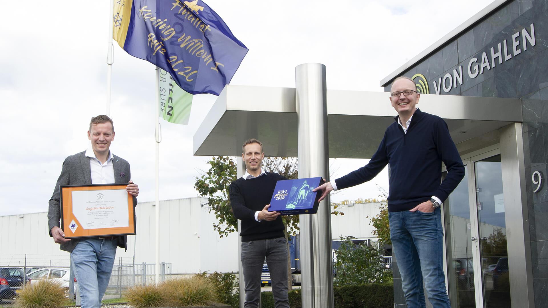 Von Gahlen is nominated for the Koning Willem I Award
